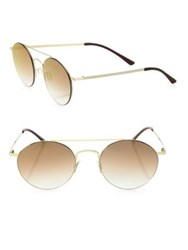 Kyme Leon1 49Mm Round Sunglasses Gold