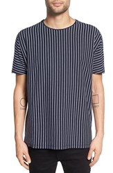 Zanerobe Men's 'Ez Boy' Oversize Stripe T Shirt Navy White