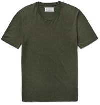 Maison Martin Margiela Slim Fit Cotton Jersey T Shirt Green