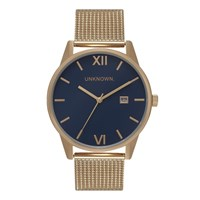 Unknown Men's The Dandy Watch Navy Dial Gold Mesh