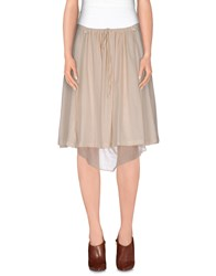 Almeria Skirts Knee Length Skirts Women Light Pink