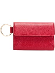 Charlotte Olympia Fold Over Wallet Red