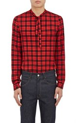 Gucci Men's Cambridge Checked Cotton Blend Shirt Red No Color Red No Color