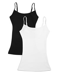 Yummie Tummie By Heather Thomson Eva Scoop Neck Tanks Sets Of 2 Compare At 78 Black White