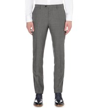 Etro Textured Wool Trousers Grey