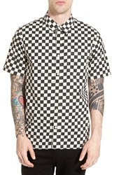 Men's Vans 'Cypress Checker' Regular Fit Short Sleeve Print Woven Shirt