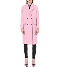 Emilio Pucci Double Breasted Wool And Cashmere Blend Coat Pink