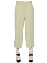 Rochas Stretch Cady Cropped Pants