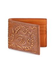 Robert Graham Rich Paisley Leather Wallet Brown