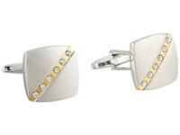 Stacy Adams Square Cuff Link Silver Gold Cuff Links