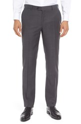 Pal Zileri Men's Flat Front Solid Wool Trousers