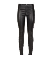 Set Lace Up Leather Trousers Female