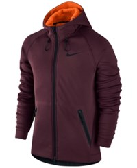 Nike Men's Therma Sphere Max Water Resistant Training Hoodie Maroon