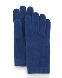 Portolano Cashmere Basic Knit Gloves Sugar Blue