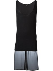Unconditional Tail Accent Tank Top Black