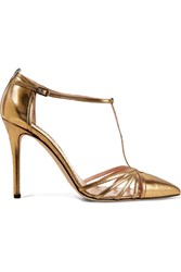 Sarah Jessica Parker Sjp By Carrie Metallic Leather Pumps Gold