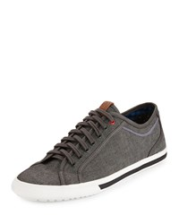 Ben Sherman Connall Lo Canvas Sneaker Gray Chambray