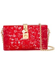 Dolce And Gabbana 'Dolce' Box Clutch Red