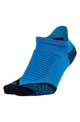 Men's Nike 'Elite' Cushioned No Show Tab Running Socks Photo Blue Black