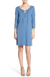Velvet By Graham And Spencer Women's Cotton Lace Up T Shirt Dress