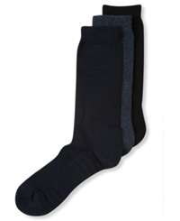 Perry Ellis Men's Socks C Fit Comfort Massage Dress Crew 3 Pack Dark Assorted