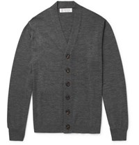 Brunello Cucinelli Virgin Wool And Cashmere Blend Cardigan Gray
