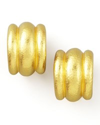 Elizabeth Locke Amalfi 19K Gold Huggie Earrings