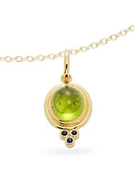 Temple St. Clair Peridot Blue Sapphire Diamond And 18K Yellow Gold Classic Pendant