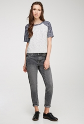 Forever 21 Faded Skinny Mid Rise Jeans Grey