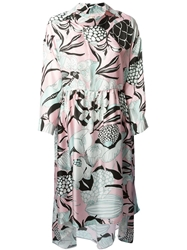 Antonio Marras Floral Print Dress Pink And Purple