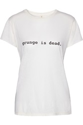 R 13 Printed Micro Modal And Supima Cotton Blend Jersey T Shirt White