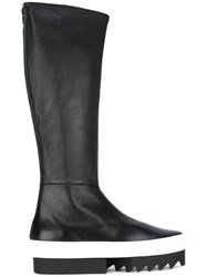 Givenchy Platform Sole Knee High Boots Black