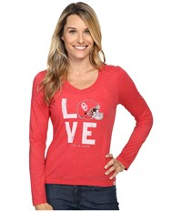 Life Is Good Love Long Sleeve Tee Red Women's T Shirt