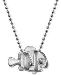 Alex Woo Sterling Silver 'Finding Dory' Nemo Pendant Necklace