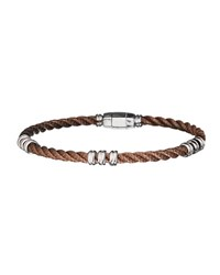Jan Leslie Men's Bronze Beaded 925 Sterling Silver Cable Bracelet Unassigned