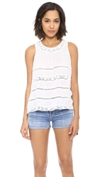 Love Sam Sleeveless Lace Blouse White