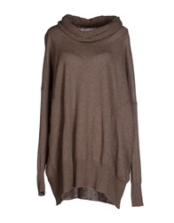 Kaos Knitwear Turtlenecks Women Khaki