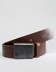 G Star Barren Leather Belt In Brown Brown