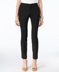 Alfani Snakeskin Print Skinny Ankle Pants Only At Macy's Deep Black