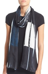 Women's Akris Punto Brushstroke Print Modal And Silk Scarf