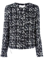 Iro Collarless Cropped Jacket Black