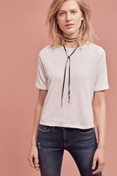 Anthropologie Rolled Sleeve Tee Ivory