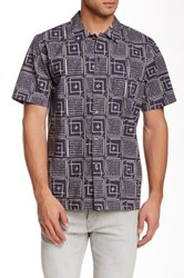 Obey Riviera Print Woven Short Sleeve Shirt Short Sleeve Regular Fit Shirt Blue