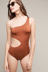 Anthropologie Solid And Striped Claudia One Piece Crimson
