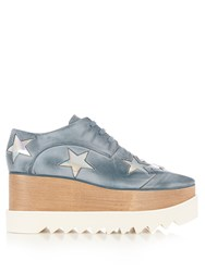Stella Mccartney Elyse Lace Up Platform Shoes Light Blue