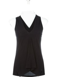 Theory Cross Back Sleeveless Top Black
