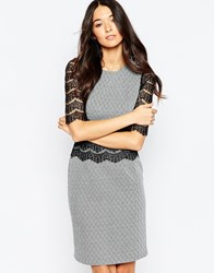 Traffic People Andram Dress With Lace Inserts Black