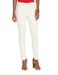 Lauren Ralph Lauren Mod Denim Leggings Natural