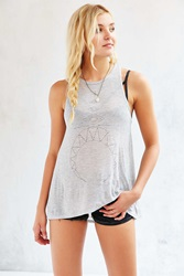 Project Social T Bohemian Moon Drape Muscle Tee Grey