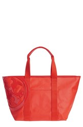 Tory Burch 'Small Beach' Canvas Tote Red Poppy Red